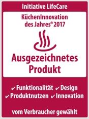 Bauknecht KüchenInnovation des Jahres 2017 Ausgezeichnetes Produkt