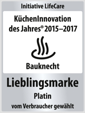 Bauknecht KuechenInnovation des Jahres 2017 Lieblingsmarke