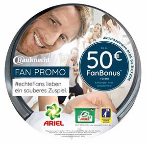 So kann der Fußball-Sommer kommen: mit dem FanBonus von Bauknecht sparen Fans bares Geld