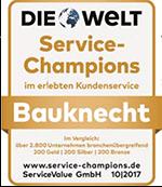 DIE WELT: Service-Champions im erlebten Kundenservice Bauknacht